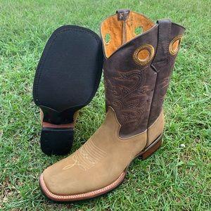 Men's Cowboy Rodeo Texas boots Light Brown